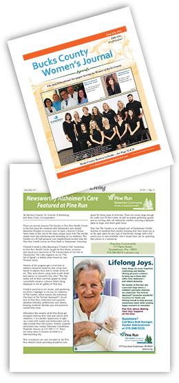 Bucks County Women's Journal: Newsworthy Alzheimer's Care Featured at Pine Run