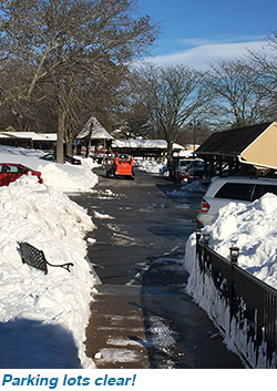 Parking lots clear!