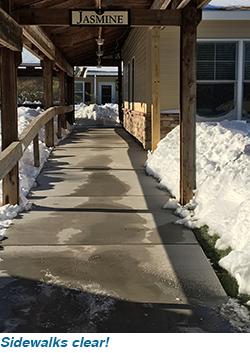 Sidewalks clear!