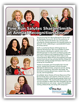 Pine Run Salutes Sharon Smith at Annual Recognition Dinner
