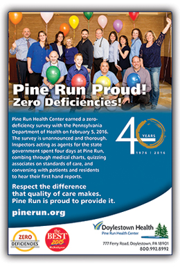 Pine Run Proud! Zero Deficiencies!