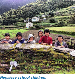 Nepalese school children.