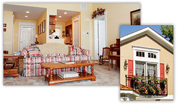 Come see the sunny rooms and other charms of the Cottages at Pine Run!