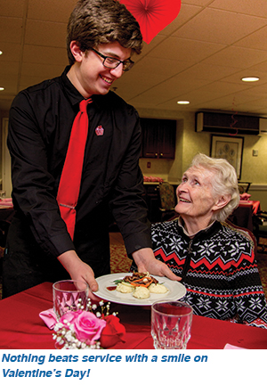 Nothing beats service with a smile on Valentine's Day!