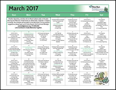 March 2017 The Garden Life Enrichment Calendar