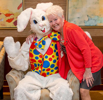 Anne Chandorian and Easter Bunny