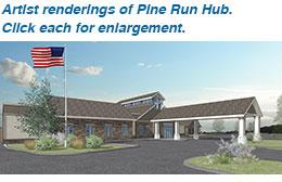 Artist rendering of Pine Run Hub.