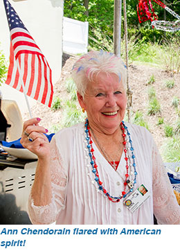 Ann Chendorain flared with American spirit!