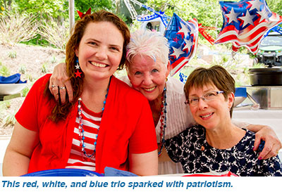This red, white, and blue trio sparked with patriotism.