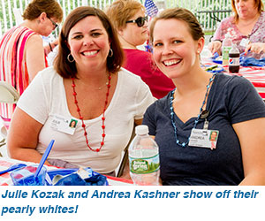 Julie Kozak and Andrea Kashner show off their pearly whites!