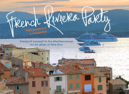French Riviera Party invitation