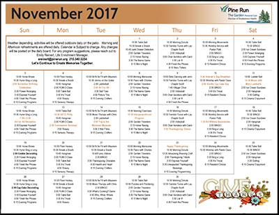 November 2017 The Garden Life Enrichment Calendar