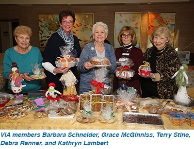 VIA members Barbara Schneider, Grace McGinniss, Terry Stine, Debra Renner, Kathryn Lambert