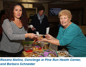 Roxana Molina, Concierge at Pine Run Health Center, and Barbara Schneider