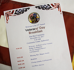 Veterans' Breakfast Program