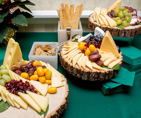 Lakeview Club Dining Cheese and Fruit