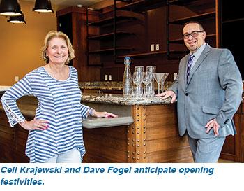 Ceil Krajewski and Dave Fogel anticipate opening festivities.
