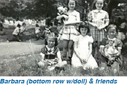 Barbara (bottom row w/doll) & friends