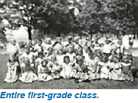 Entire first-grade class