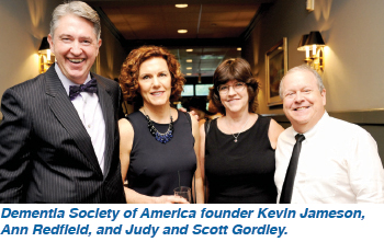 Dementia Society of America founder Kevin Jameson, Ann Redfield, and Judy and Scott Gordley.