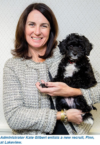 Administrator Kate Gilbert enlists a new recruit, Finn, at Lakeview.