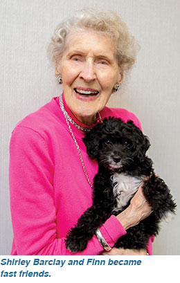 Shirley Barclay and Finn became fast friends.