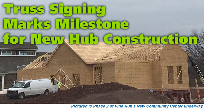 Truss Signing Marks Milestone for New Hub Construction