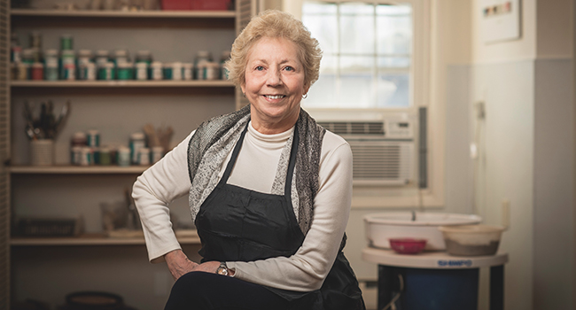 Accomplished potter Sylvia Roman helps Pine Run Retirement Community rejuvenate a beloved artistic space.
