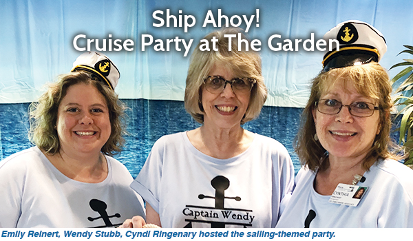Emily Reinert, Wendy Stubb, Cyndi Ringenary hosted the sailing-themed party.