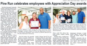 Pine Run Retirement Community employee Appreciation Day